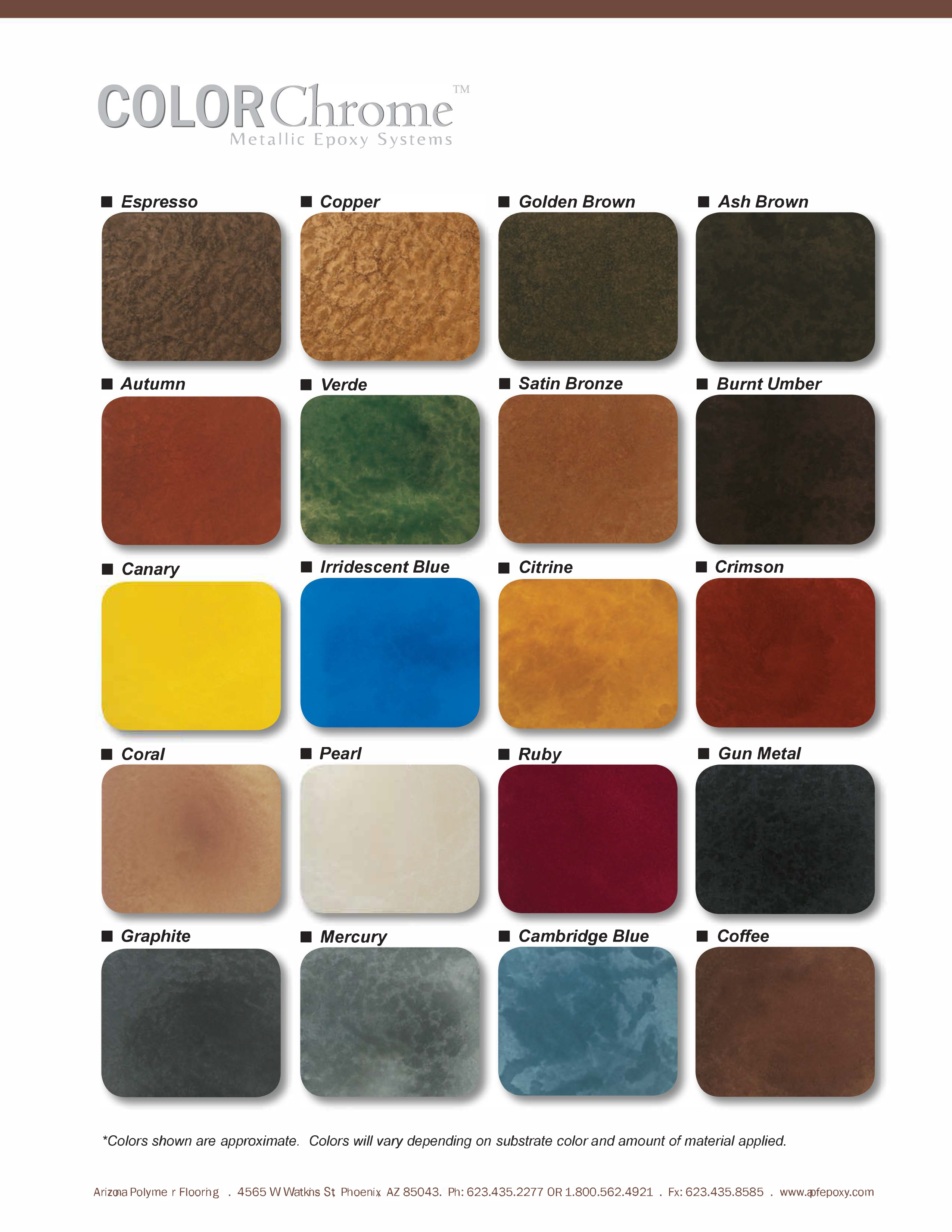 Apf Colorchrome Color Chart 917 Benhardt Construction And Remodeling