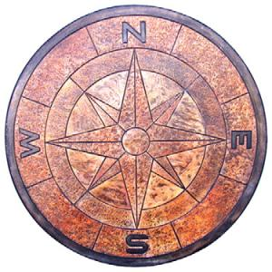 4-Foot-Compass-Medallion-Stamped-Concrete-St-Louis-County-St-Charles-County-Concrete-Contractor