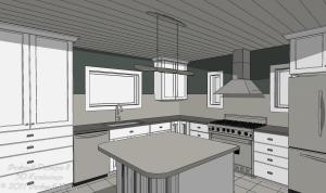 Basic Kitchen Design Package Vector View