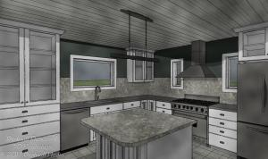 Basic Kitchen Design Package Water Color View
