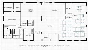 Floor Plan Rendering for Bridgeport Model Custom Home Design by Benhardt Construction Design | Build Studio