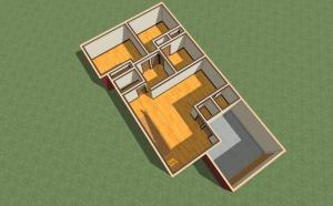 Dollhouse 3D Render View of New Home Design