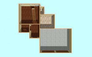Plan Series 1 House 5 Dollhouse Top First Floor