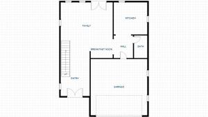 First Floor Plan of the 2 Story Home Design Ponderosa by Benhardt Construction Design | Build Studio