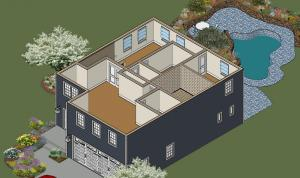 Ponderosa Upper Floor Upper Floor Front Right Isometric View